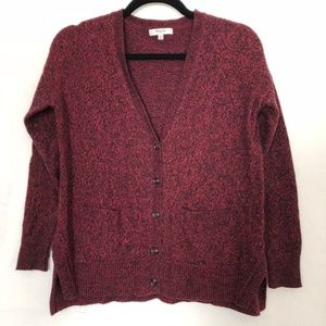 Madewell red/black cardigan